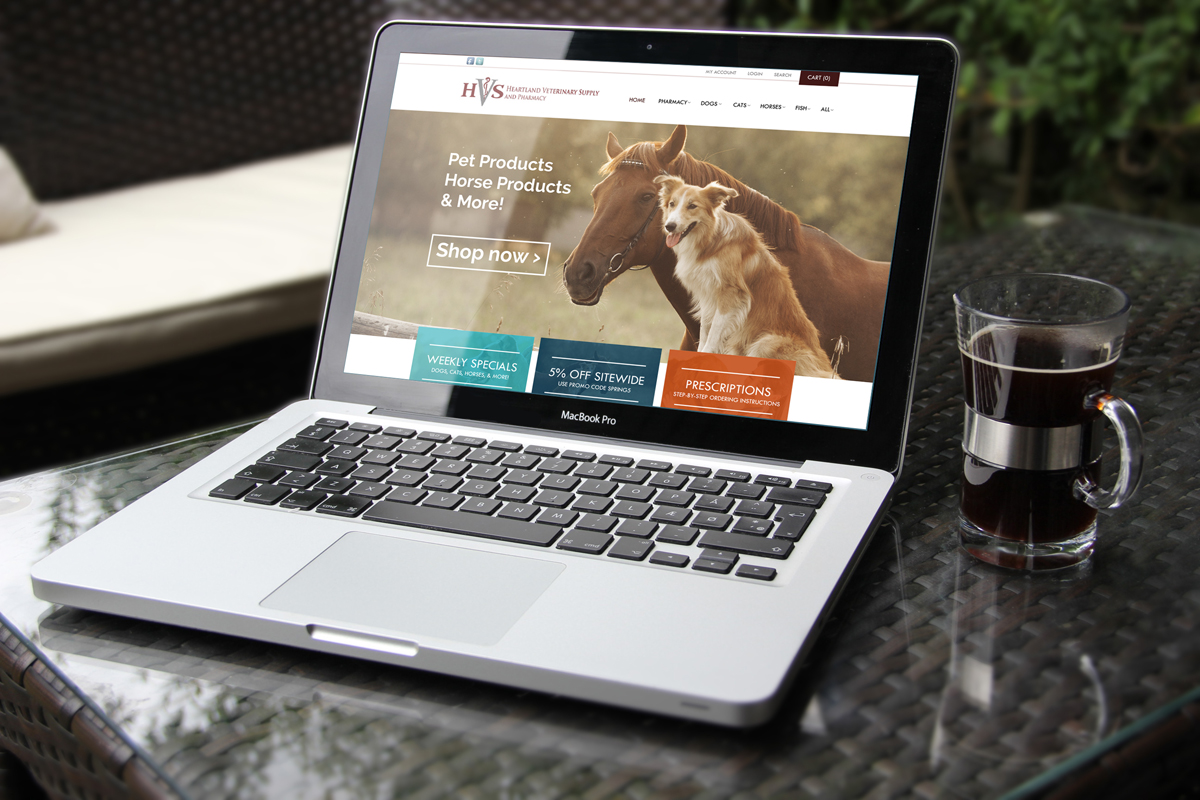 Heartland Vet Supply Web Design | LiveLaugh