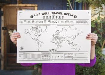 Interactive Travel Map | Print Design